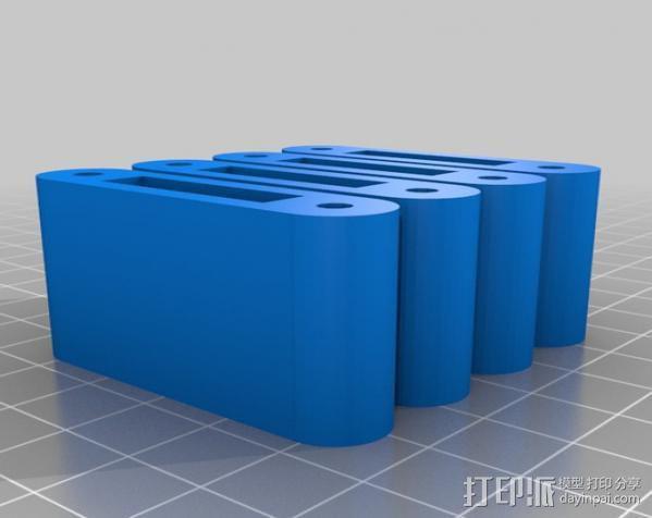 LM8/LM10直线轴承支架 3D模型  图6