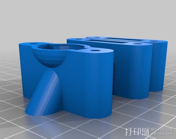 LM8/LM10直线轴承支架 3D模型  图7