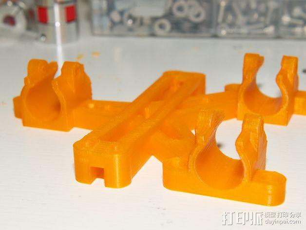 LM8/LM10直线轴承支架 3D模型  图8