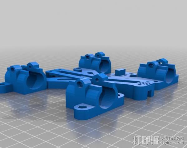 LM8/LM10直线轴承支架 3D模型  图12