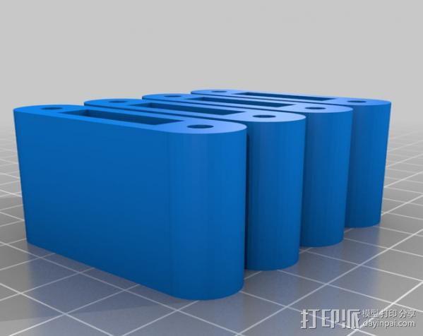 LM8/LM10直线轴承支架 3D模型  图16