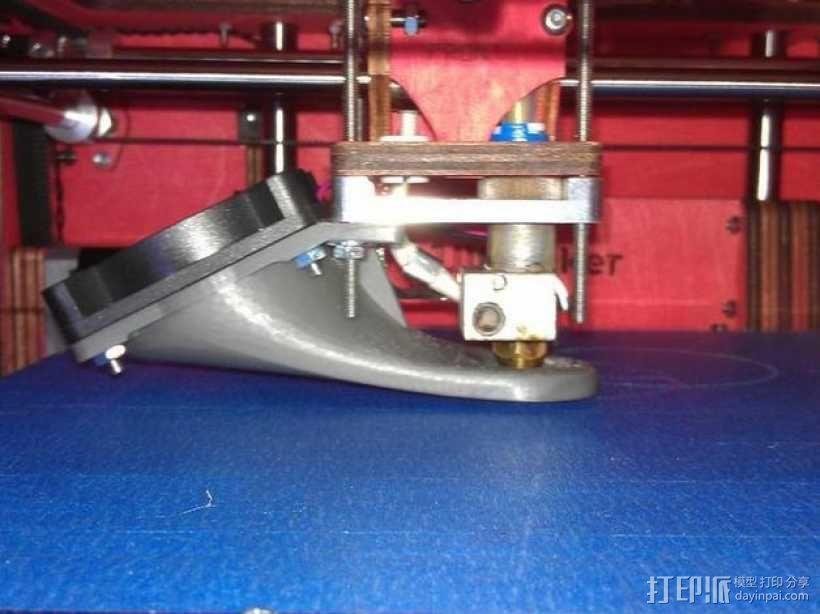 Ultimaker打印机风扇导管 3D模型  图1
