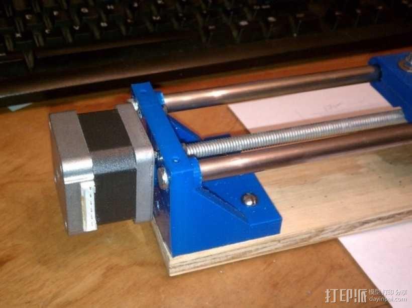 NEMA 17步进马达打印机轴 3D模型  图2