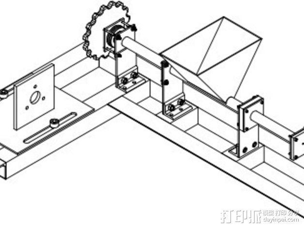 RecycleBot挤出机 3D模型  图1