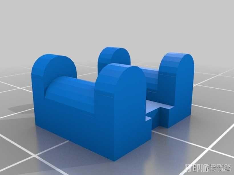 Ultimaker打印机皮带张紧器 3D模型  图1