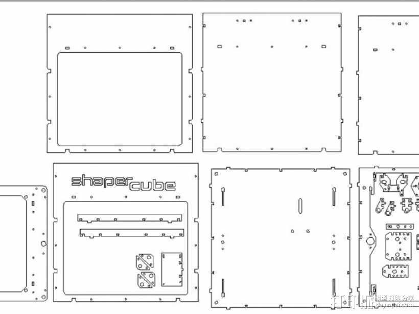 Shapercube打印机部件 3D模型  图1