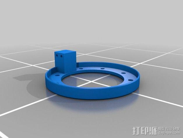 LED灯支架 3D模型  图2