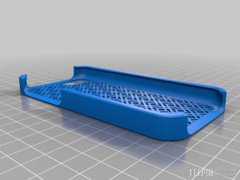 网格iPhone手机保护壳 3D模型  图1