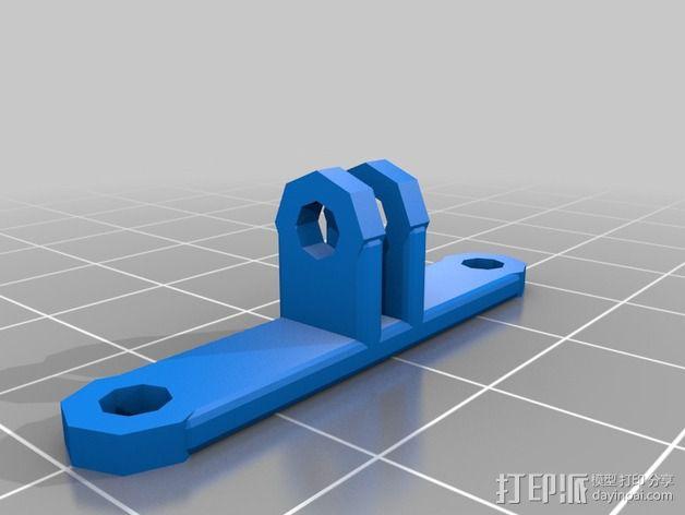 可旋转风扇支架 3D模型  图2