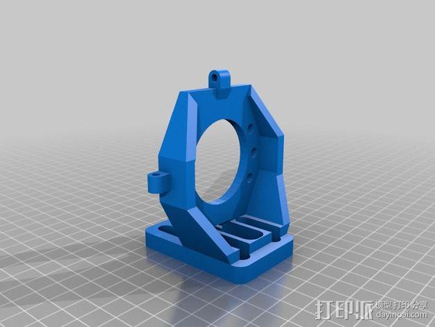 Prusa i3打印机X轴的滑块适配器 3D模型  图2