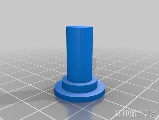 PrintrBot Simple打印机线轴架 3D模型  图3