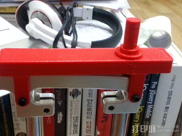 PrintrBot Simple打印机线轴架 3D模型  图1