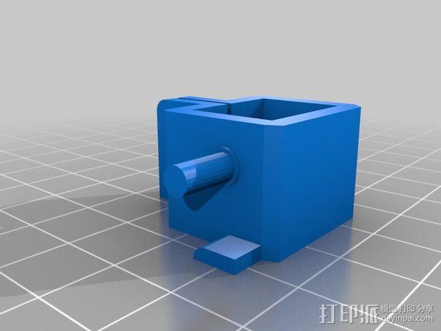 PrintrBot Simple打印机线轴架 3D模型  图4