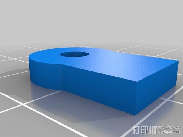 PrintrBot Simple打印机线轴架 3D模型  图5