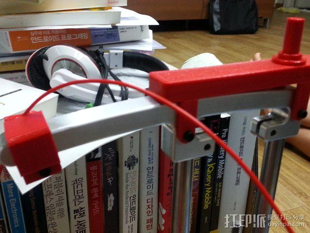 PrintrBot Simple打印机线轴架 3D模型  图7