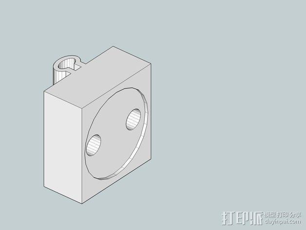 可弯曲台灯底座 3D模型  图3