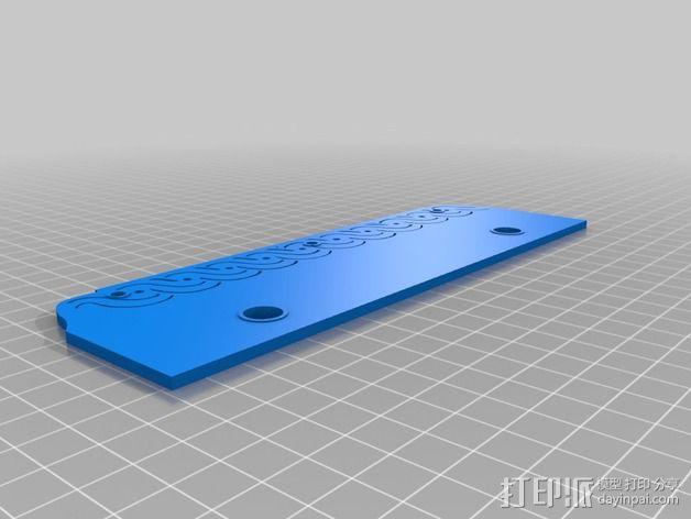 装饰性书签 3D模型  图2