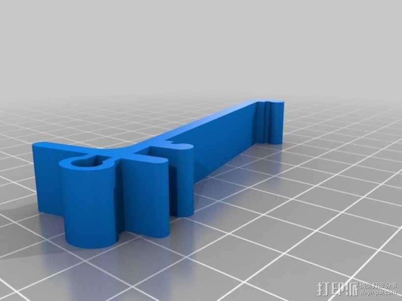 电路主板安装夹 固定夹  3D模型  图3