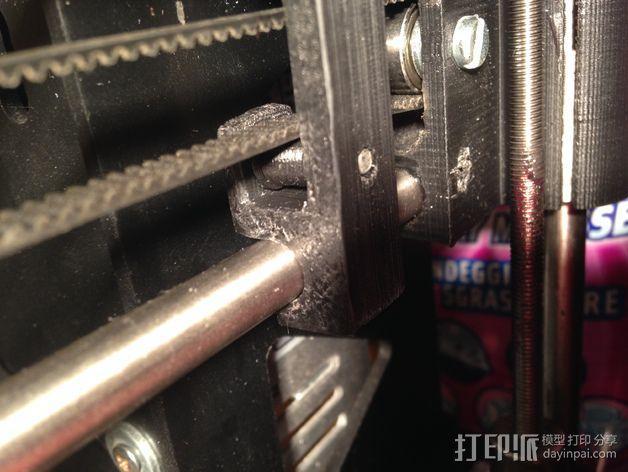 打印机Y轴正时皮带和滑轮 3D模型  图1