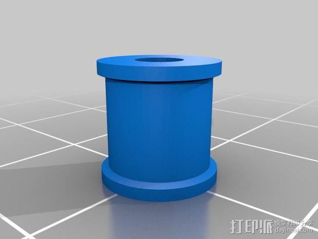 打印机Y轴正时皮带和滑轮 3D模型  图3
