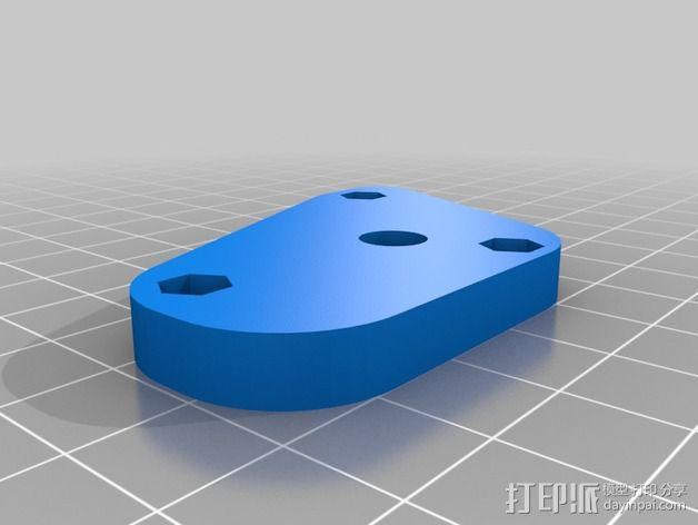 打印机Z轴连杆盖 3D模型  图2