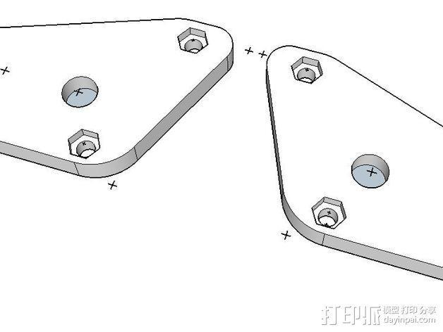 打印机Z轴连杆盖 3D模型  图4