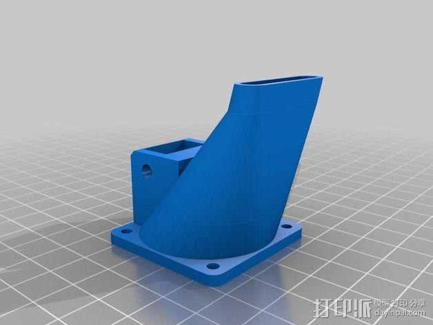 Greg's Wade挤出机风扇导管 风扇支架 3D模型  图2