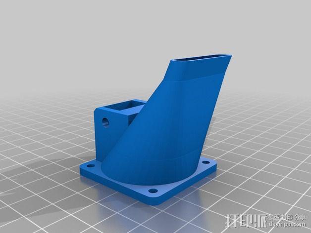 Greg's Wade挤出机风扇导管 风扇支架 3D模型  图3