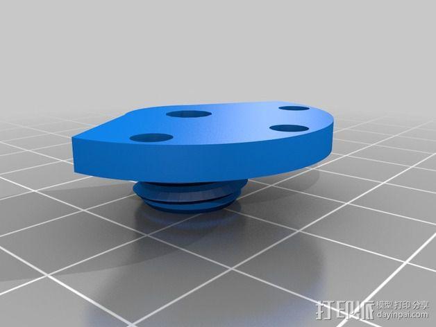 鲍登管支架 3D模型  图3