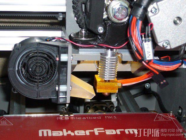 鼓风导管 风扇导管 3D模型  图1