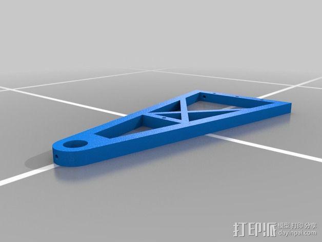打印机线轴支架 3D模型  图2