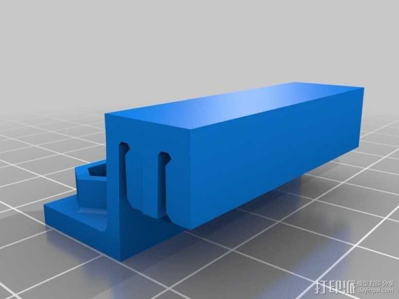 双皮带连接器 3D模型  图1