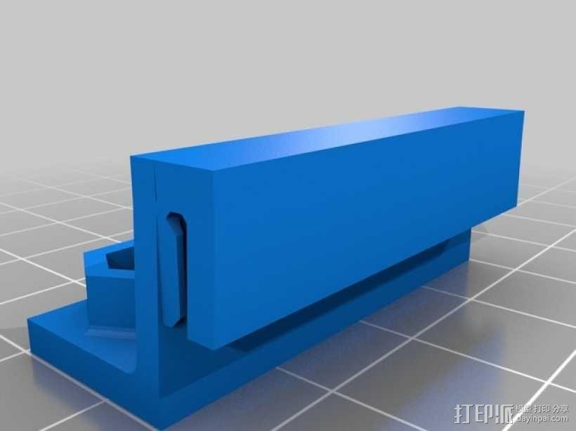 双皮带连接器 3D模型  图4