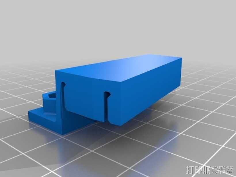 双皮带连接器 3D模型  图5
