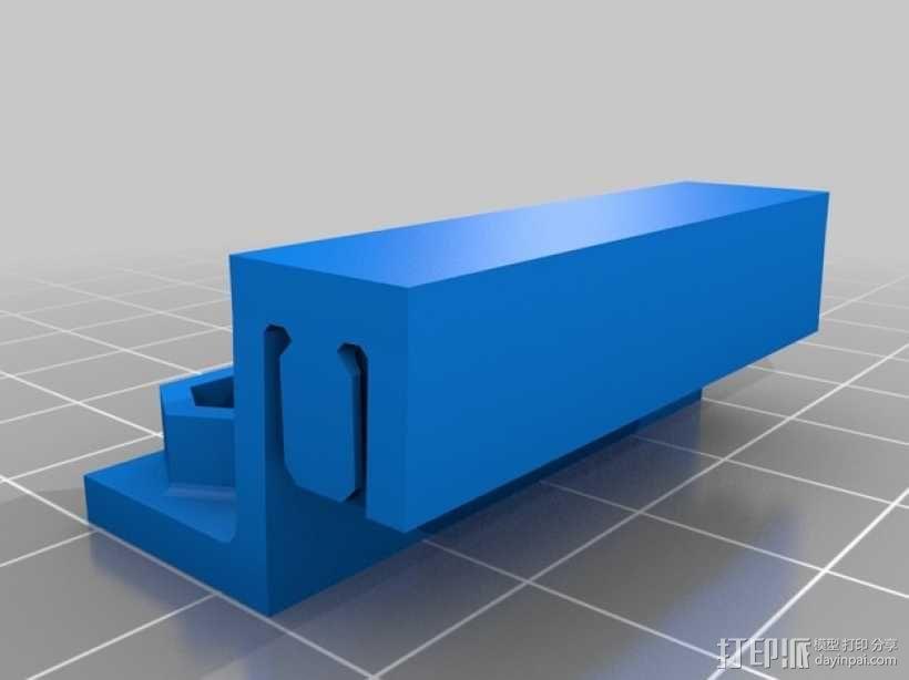 双皮带连接器 3D模型  图3