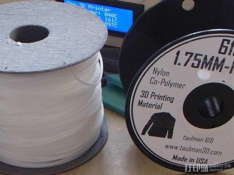 flashforge creators打印机线轴支架 3D模型  图1