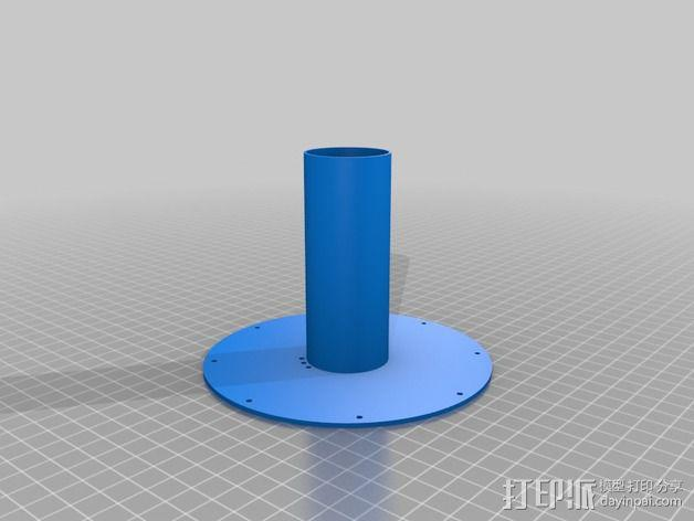 flashforge creators打印机线轴支架 3D模型  图3