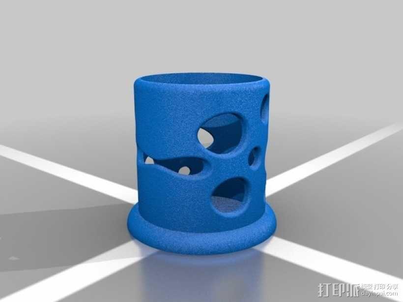 轴承支架 3D模型  图2