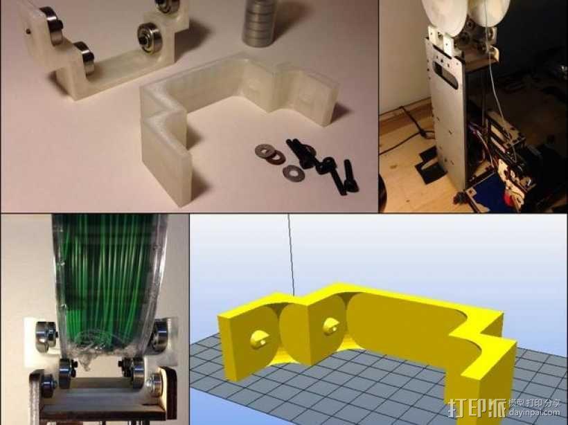 Printrbot Simple打印机线轴适配器 线轴支架  3D模型  图1