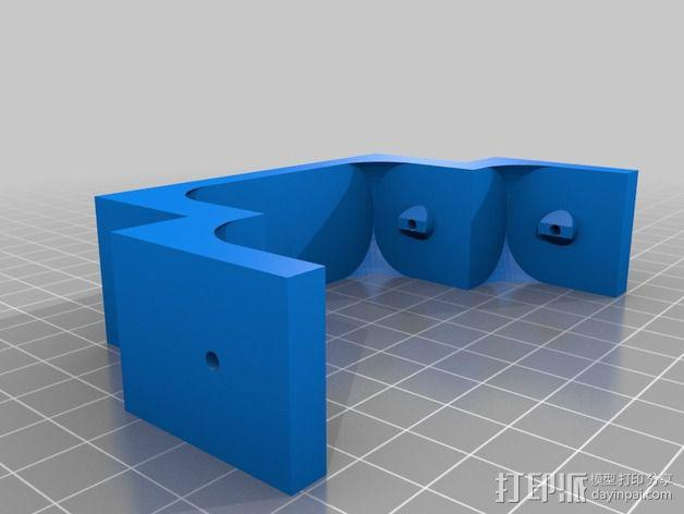 Printrbot Simple打印机线轴适配器 线轴支架  3D模型  图2