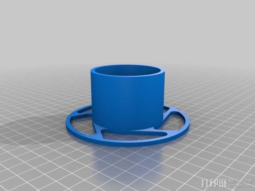 参数化线轴支架 3D模型  图2