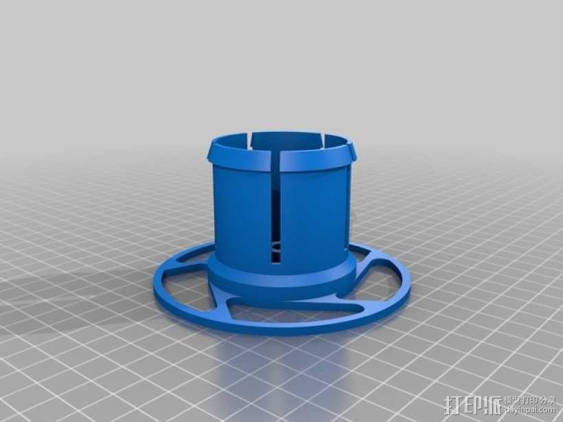 参数化线轴支架 3D模型  图3