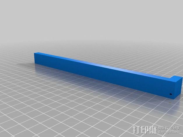 K8200打印机玻璃板支撑架 3D模型  图3