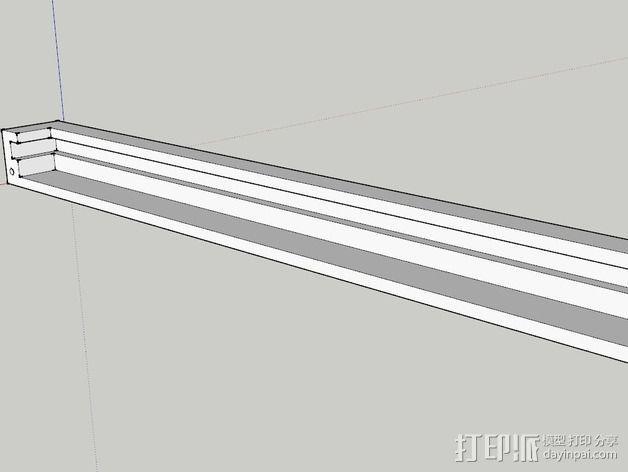 K8200打印机玻璃板支撑架 3D模型  图1