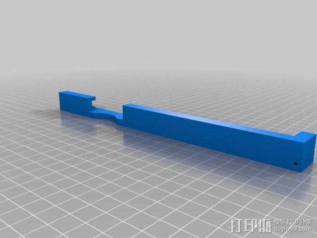 K8200打印机玻璃板支撑架 3D模型  图2