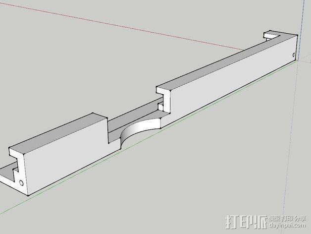K8200打印机玻璃板支撑架 3D模型  图4