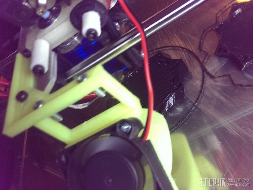 RigidBot打印机散热风扇 3D模型  图4
