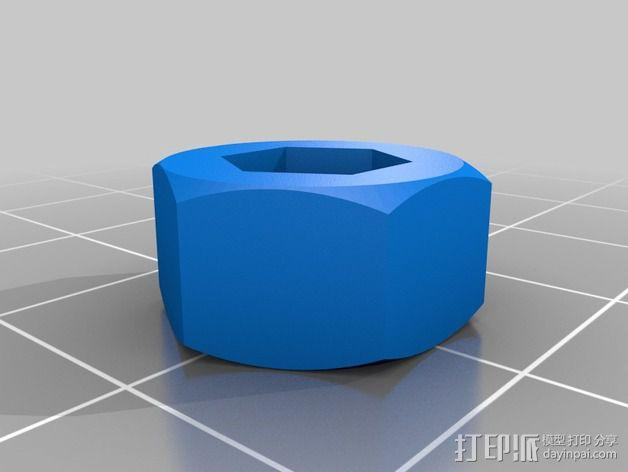 M4 / M5 /M8 螺母适配器 3D模型  图2