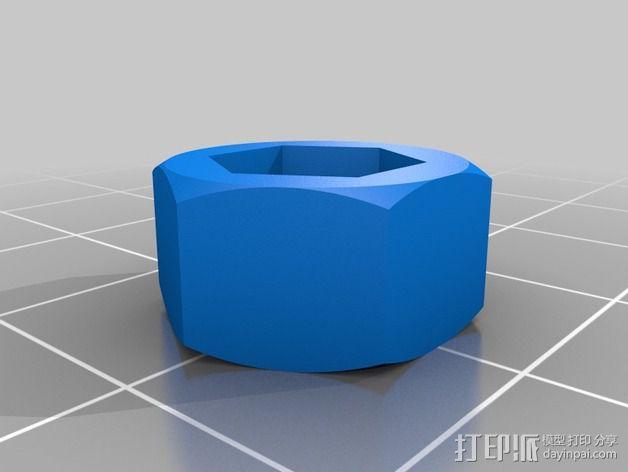 M4 / M5 /M8 螺母适配器 3D模型  图3