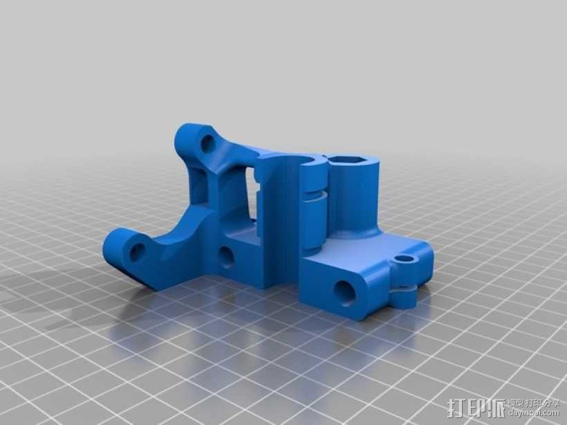 打印机X轴螺母支架 3D模型  图2